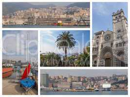 Genoa landmarks collage