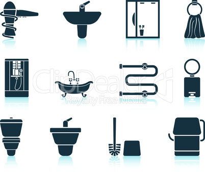 Set of bathroom icon