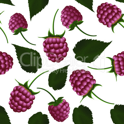 Fresh raspberry seamless pattern