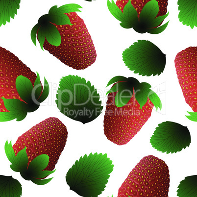 Fresh strawberry seamless pattern