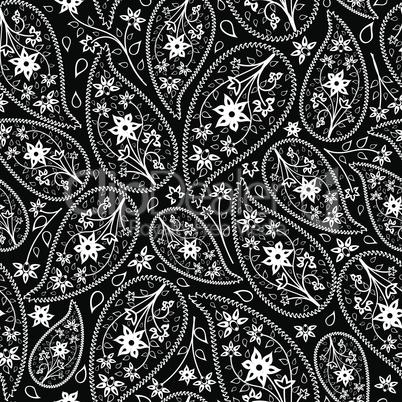 Oriental cucumbers seamless pattern