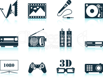 Set of multimedia icon