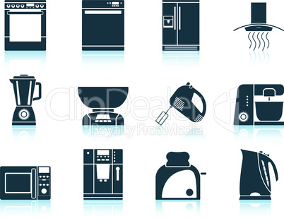 Set of kitchen equipment icon