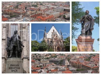 Leipzig landmarks collage