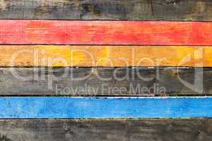 colorful painted wooden boards