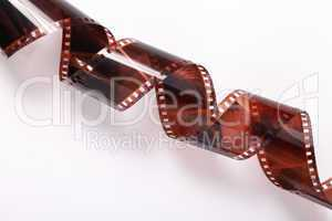 photographic film negative isolated