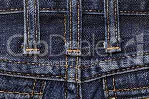 Jeans close-up seam texture