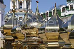 golden church domes