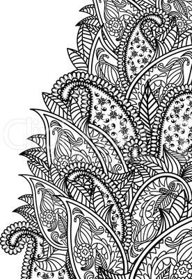 Oriental paisley pattern