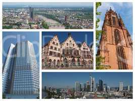 Frankfurt landmarks collage