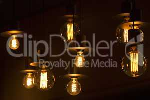 Lamps in a bar
