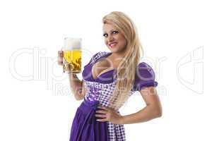 Bayerische Frau mit einer Maß