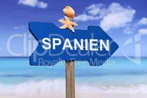 Spanien mit Strand und Meer in den Ferien im Sommer
