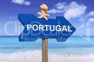 Portugal mit Strand und Meer in den Ferien im Sommer