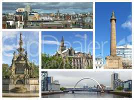 Glasgow landmarks collage