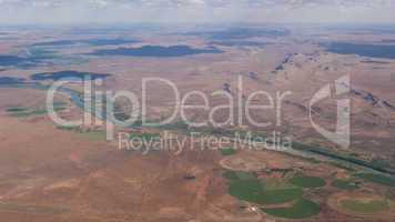 Luftaufname von Südafrika, aerial view of South Africa