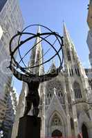 Atlas and St. Patrick from the right
