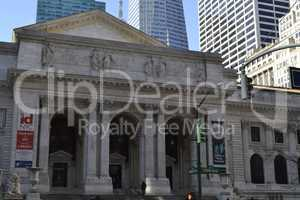 NY public library façade