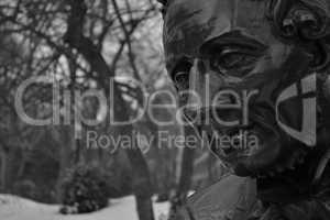Hans Christian Andersen black and white