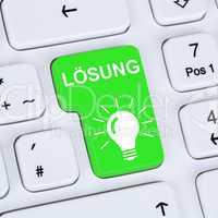 Internet Konzept Lösung finden Problem Konflikt Button mit Comp