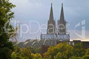 Kölner Dom und Höhenzollernbrücke