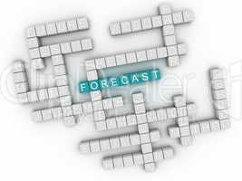 3d image Forecast issues concept word cloud background