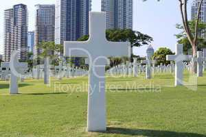 American Memorial Cemetery in Manila, Philippines.It has the lar