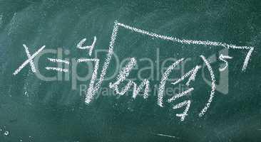 Matheformel als Symbolbild für Bildung