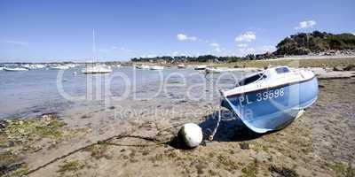 Boot in der Bretagne