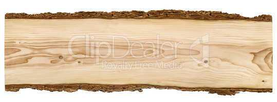 Nice wooden board on white background