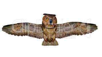 Eagle owl - 3D render