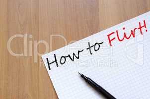 How to flirt concept