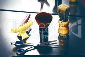 barber tool close up