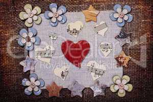 heart music love background wallpaper design