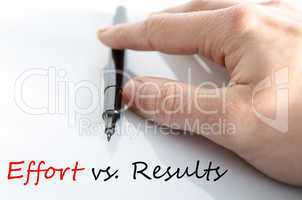 Effort vs. Results Concept