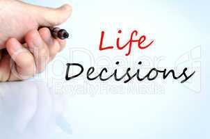 Life Decisions Concept