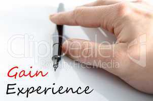 Gain Experience Concept