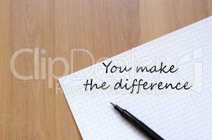 You make the difference concept