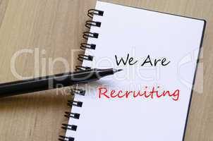 We are recruiting concept