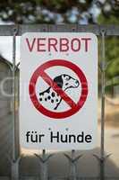 Verbot für Hunde