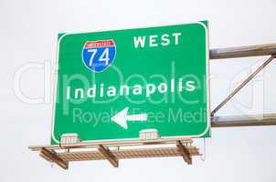 Road sign to Indianapolis