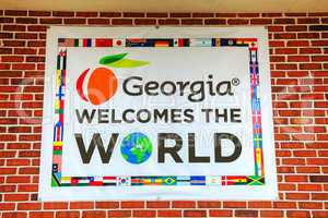 Georgia welomes the world sign