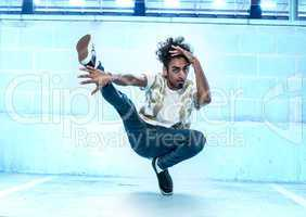 Male Hip Hop Dancer Dancing Inside a Building