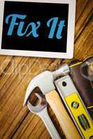 Fix it against desk with tools