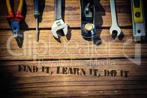 Find it, learn it, do it against desk with tools