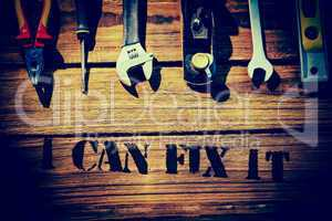 I can fix it against desk with tools