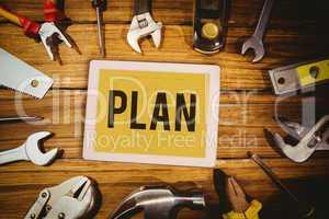 Plan against blueprint