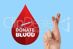 Composite image of donate blood