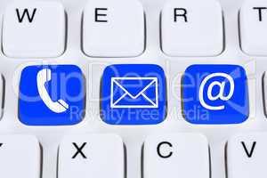 Kommunikation Kontakt mit Telefon, Brief oder E-Mail online