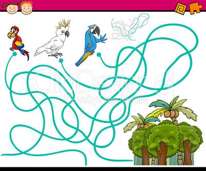 paths or maze cartoon game